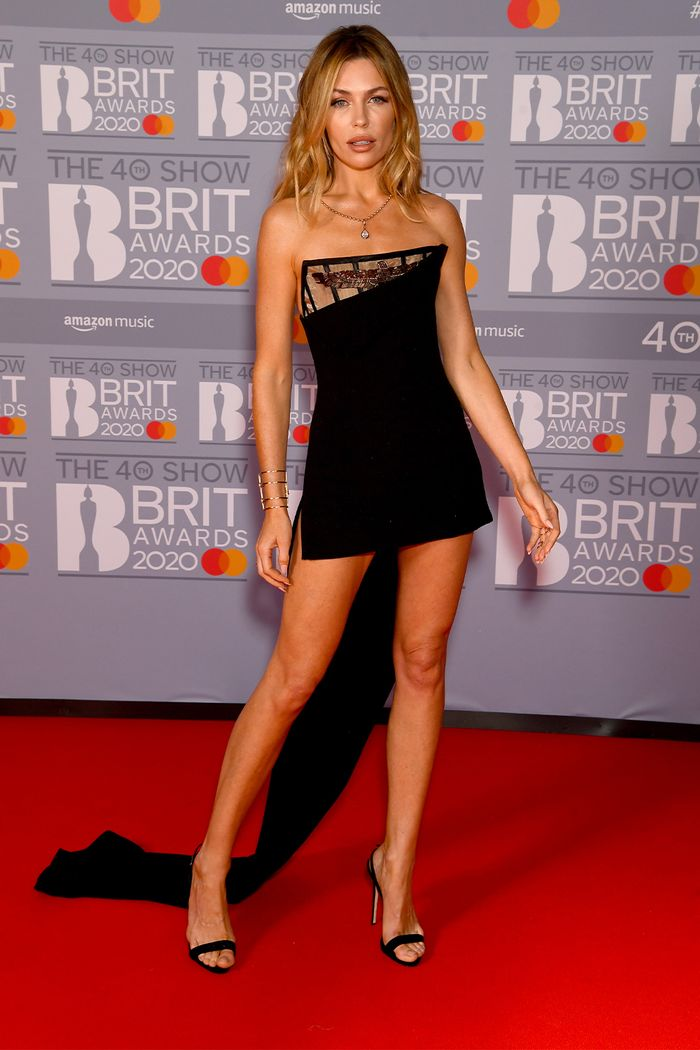 2020 Brits Awards Red Carpet: Abbey Clancy