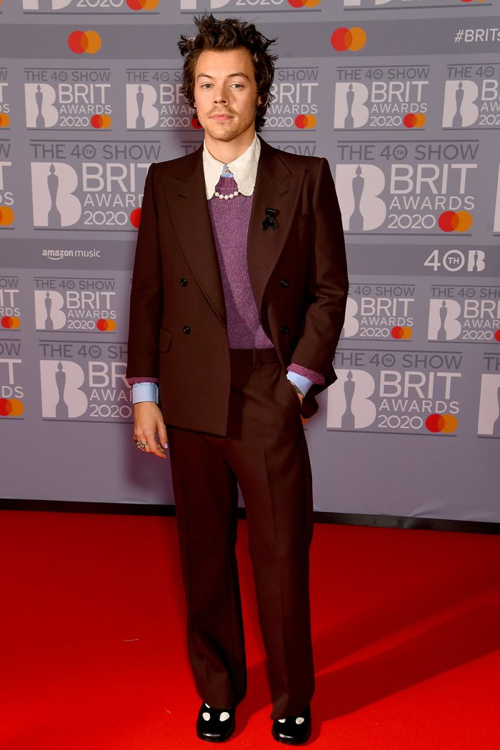 2020 Brits Awards Red Carpet: Harry Styles