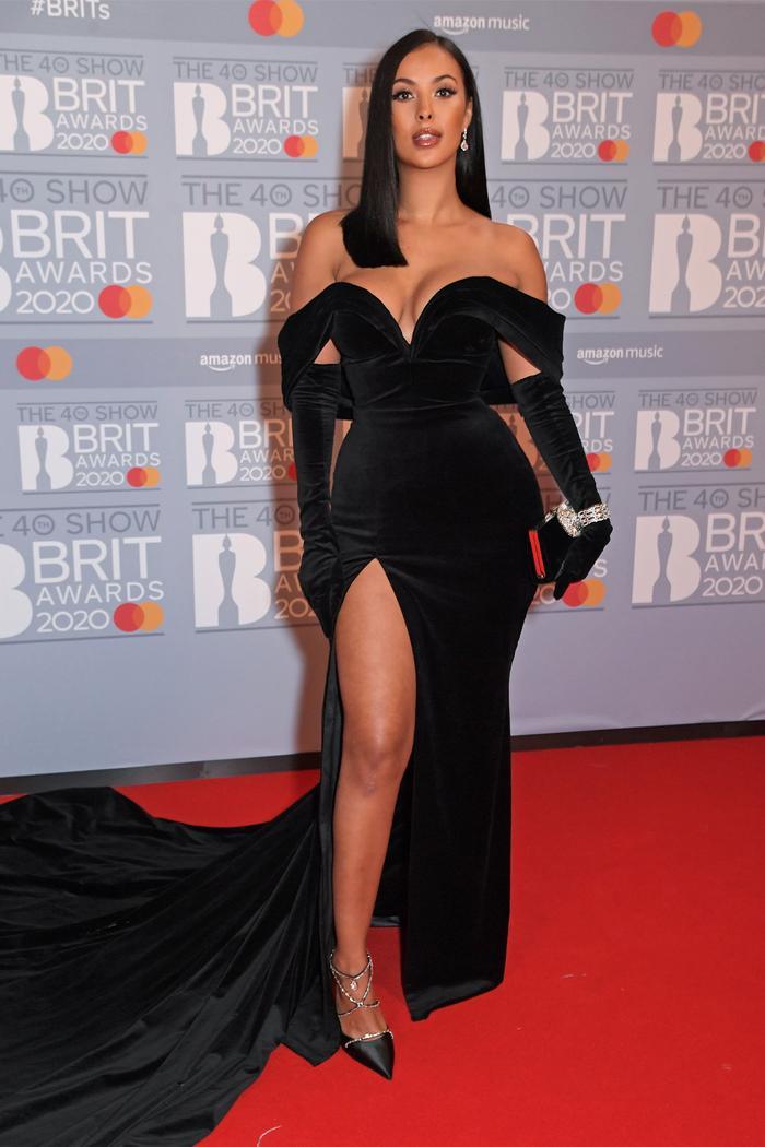 2020 Brits Awards Red Carpet: Maya Jama