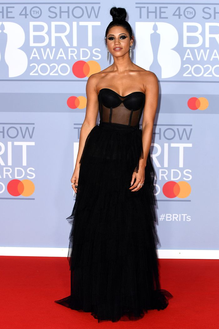 2020 Brits Awards Red Carpet: Vick Hope