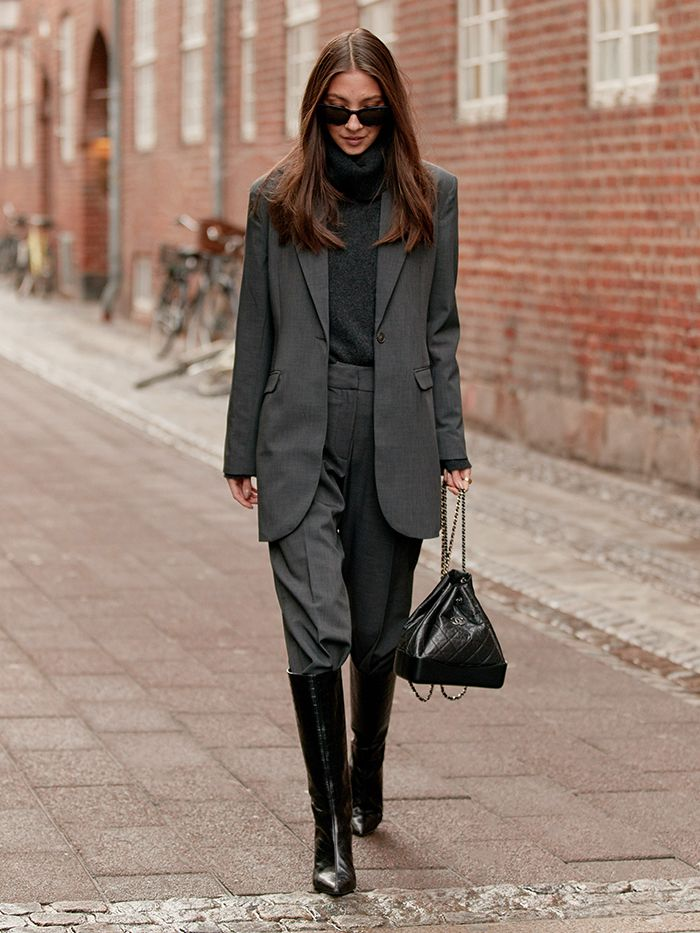 Street Style Styling Tips: Boots and Suit Trousers