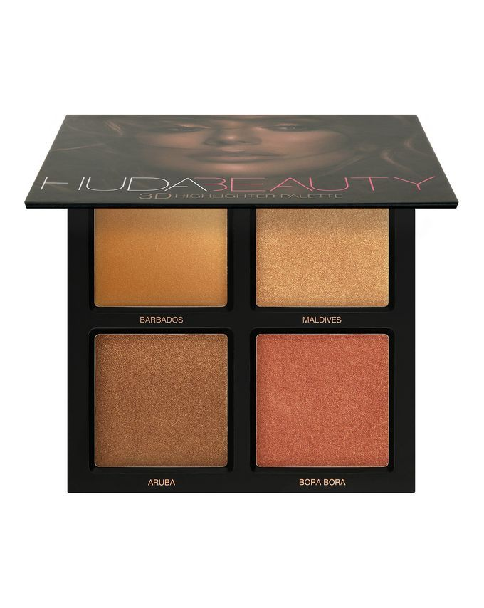 Huda Beauty 3D Highlight Palette, The Bronzed Sands Edition