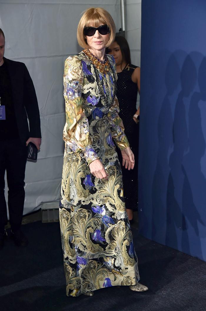 Anna Wintour Floral Dress