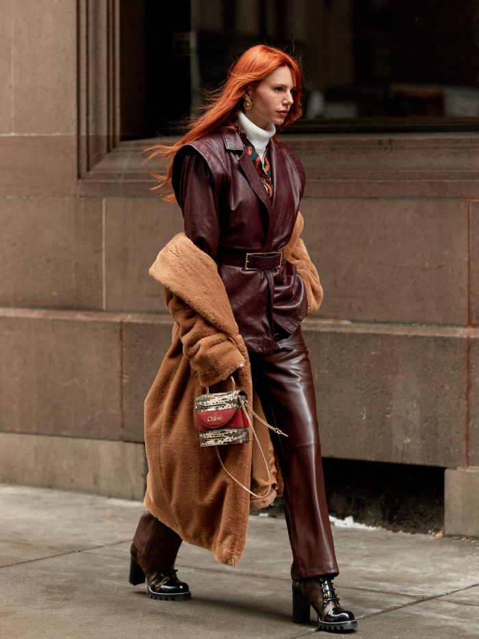 brown colour trend 2020: street style