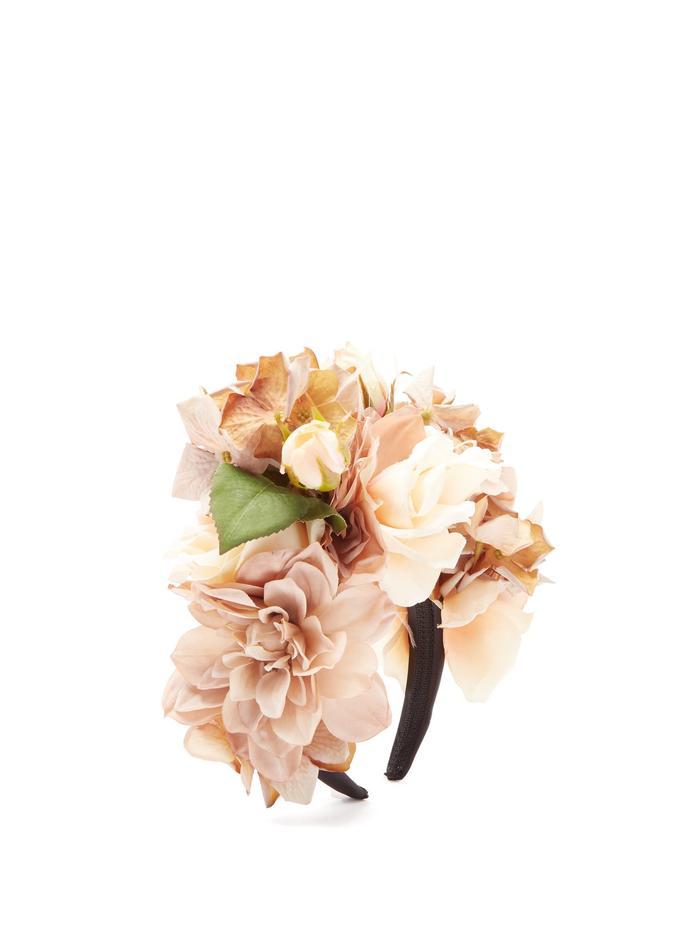 Philippa Craddock Floral-Appliquéd Headband