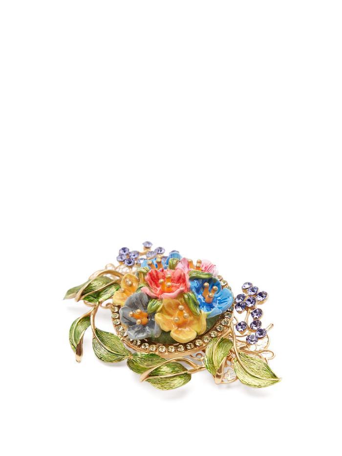 Dolce & Gabbana Flower and Crystal Barrette