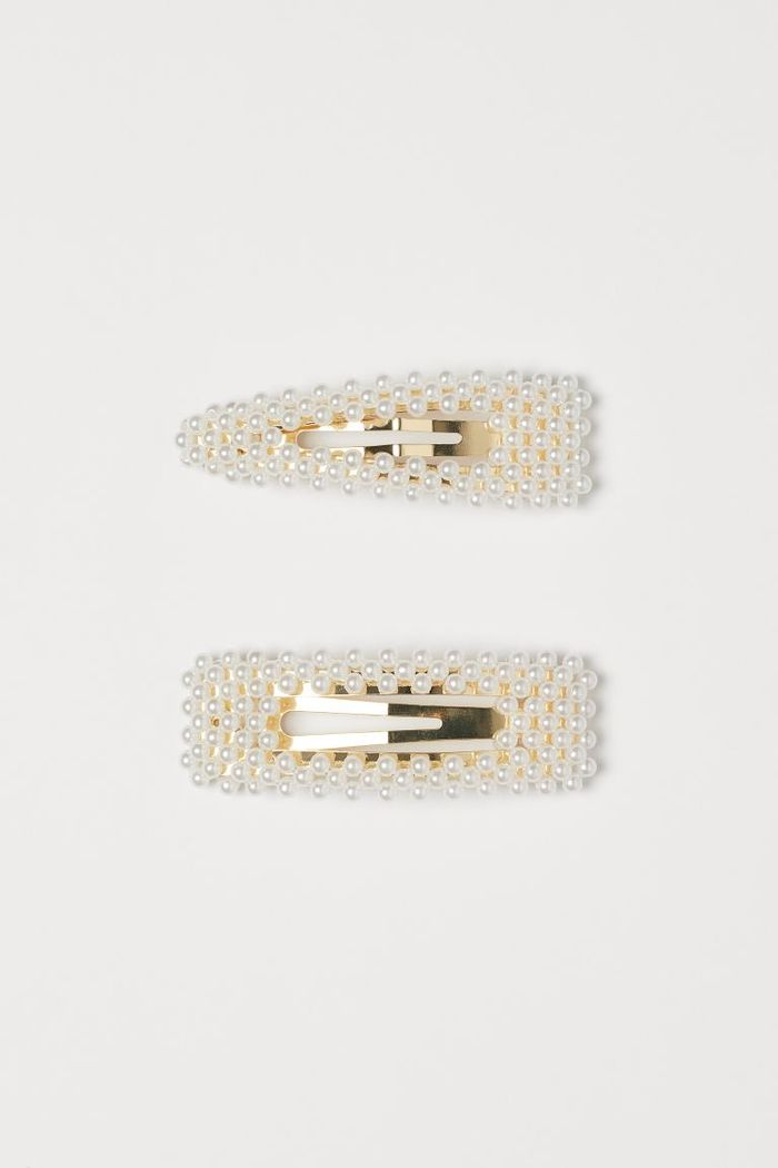 H&M 2-Pack Hair Clips With Beads