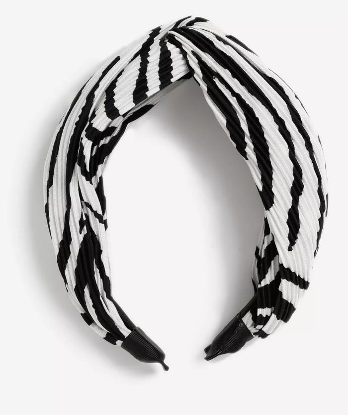 Topshop Zebra Print Looped Headband