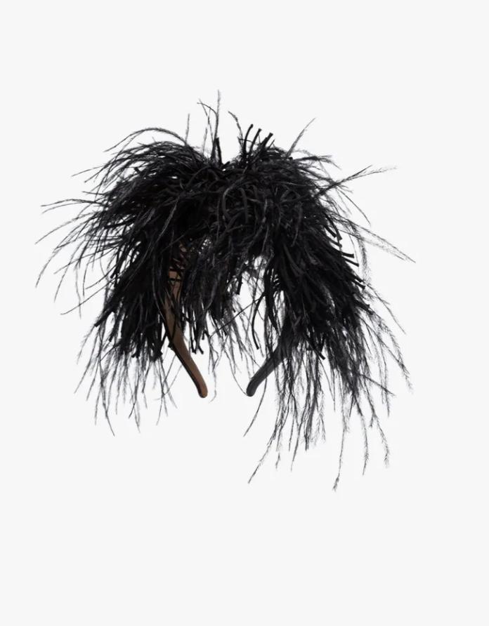 Loewe Black Feather Headband