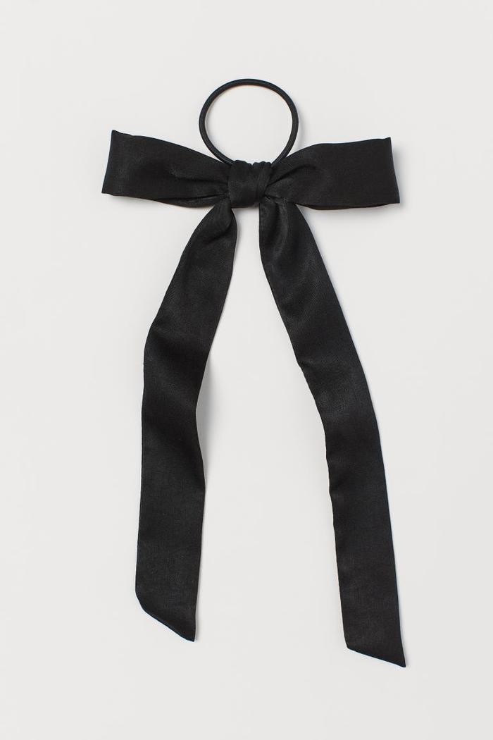 H&M Satin-Bow Hair Elastic