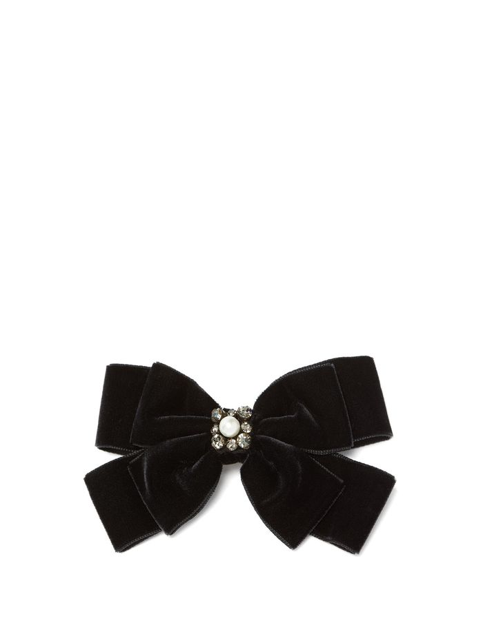 Erdem Faux Pearl-Embellished Bow Hair Clip