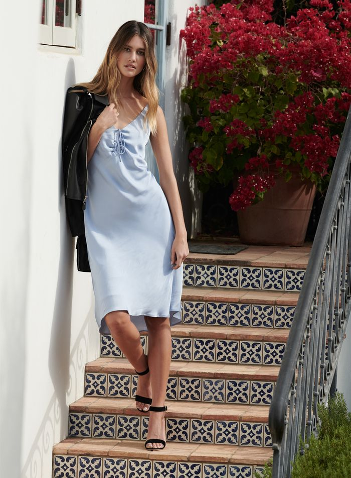 slip dress baby blue