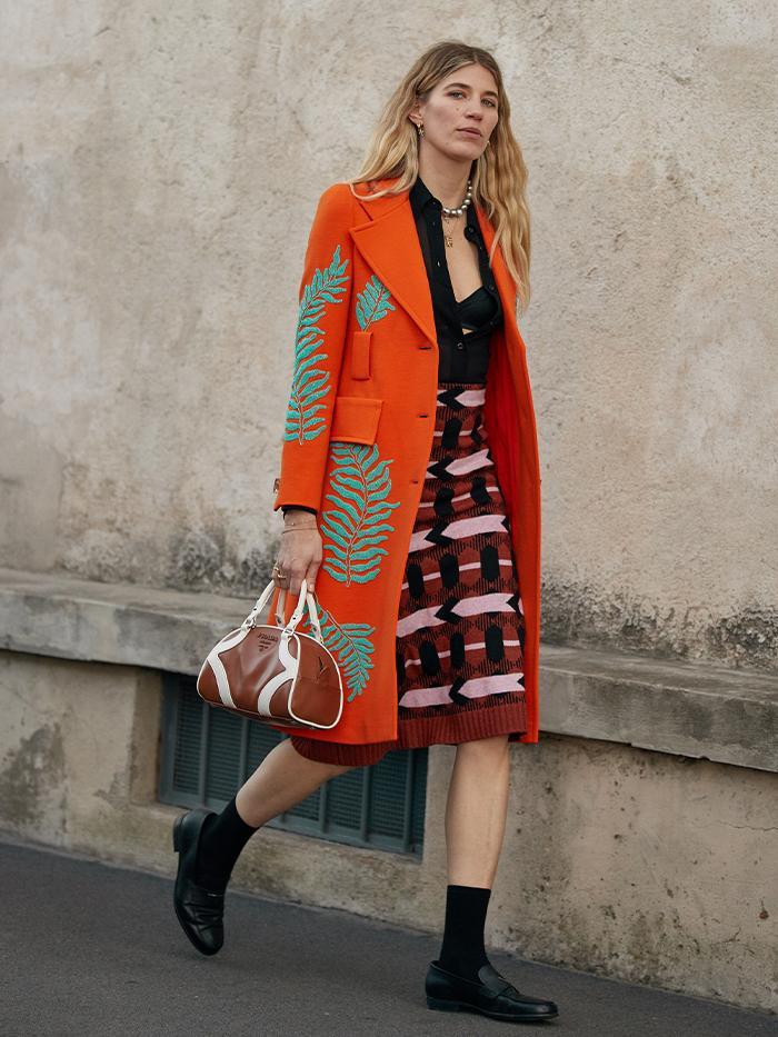 Fashion Week Street Style: Prada Bowling Bag