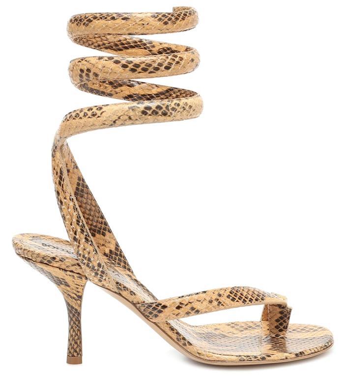 Bottega Veneta BV Spiral Leather Sandals
