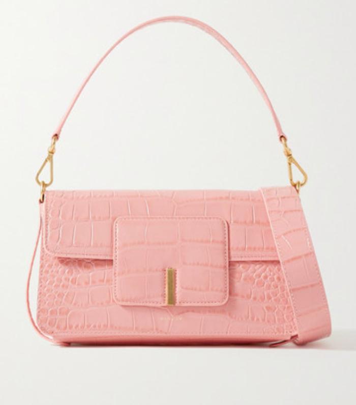 Wandler Georgia Croc-Effect Leather Shoulder Bag