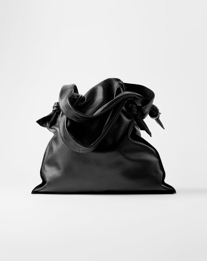 Zara Knotted Leather Shopper