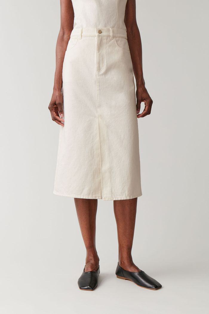 COS Organic Cotton Long Denim Skirt
