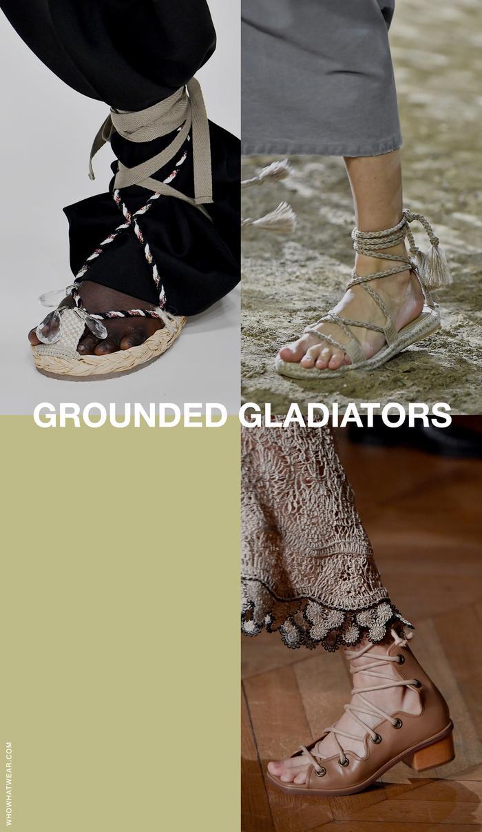 sandal trends 2020: gladiators