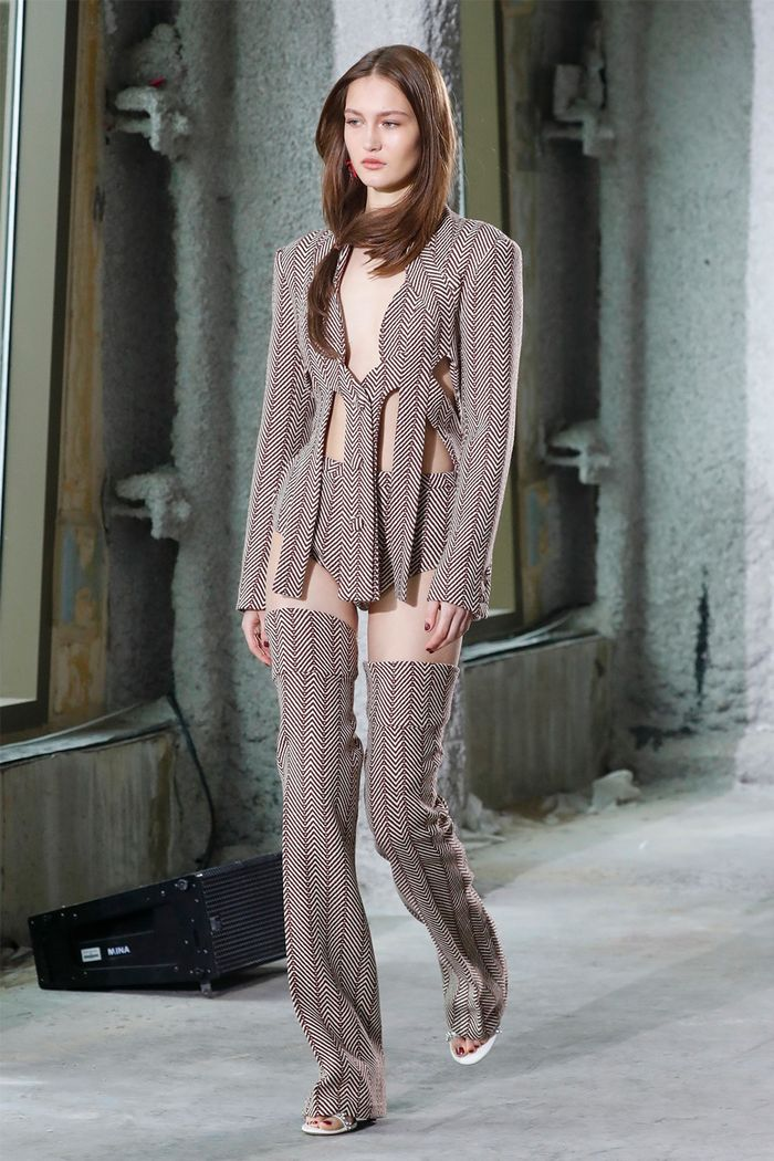 Cutout clothing trend: Area runway