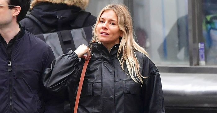 Sienna Miller Found My Ideal Leather Jacket For $250 at Mango