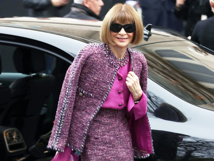 Anna WIntour's Outfits at Paris Fashion Week