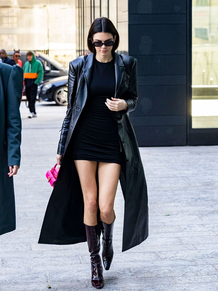 How Kendall Jenner wears the mini dress trend
