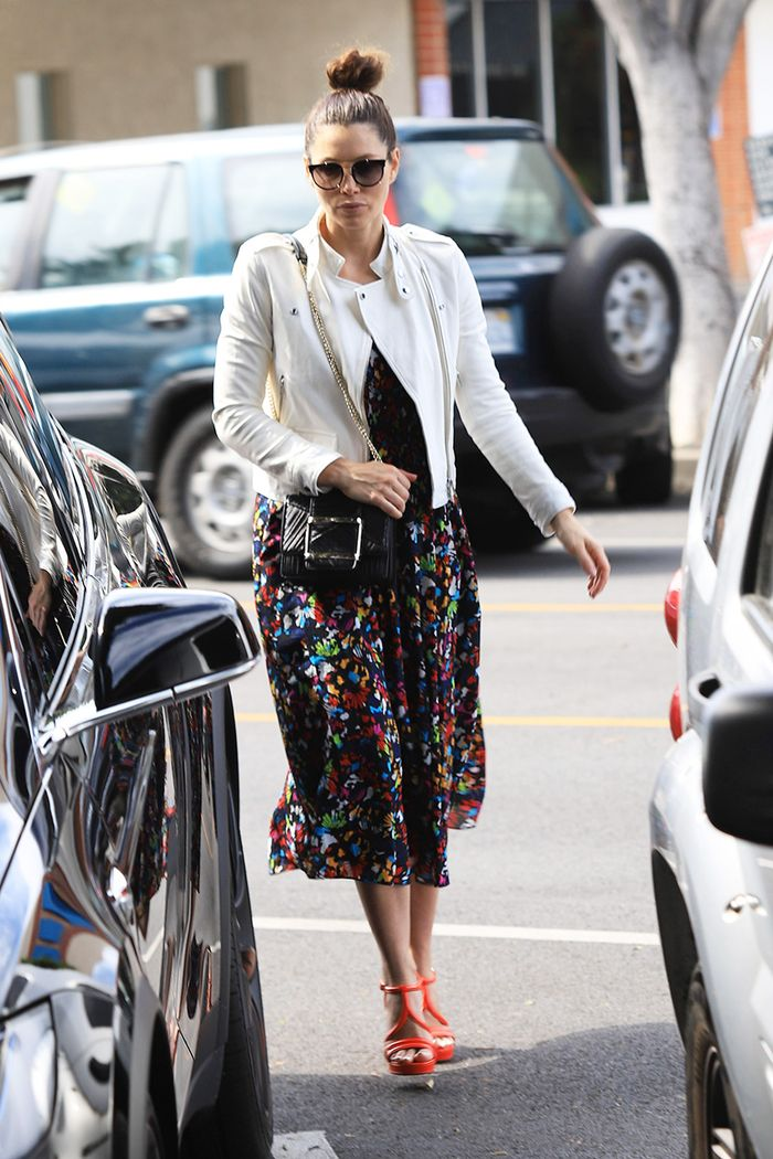 Jessica Biel spring outfit