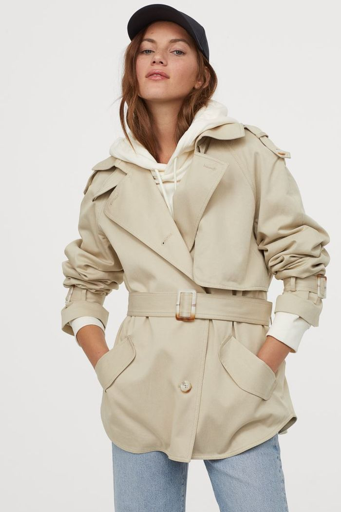 H&M Short Lyocell-Blend Trench