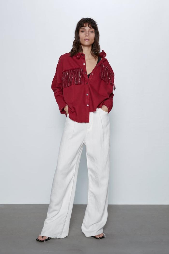 Zara Shiny Fringe Jacket