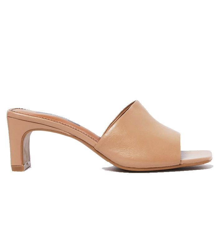 Marks and Spencer Leather Square Toe Mules