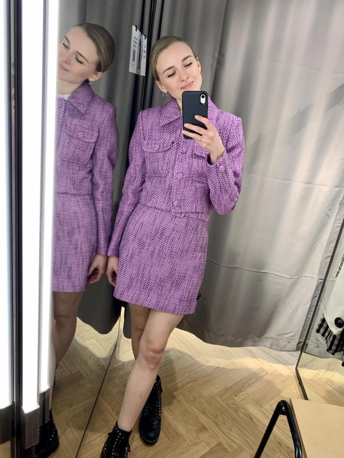 & other stories purple jacket: joy montgomery