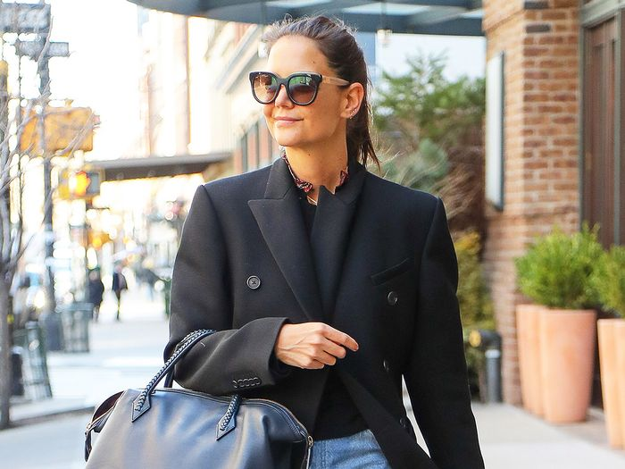 Katie Holmes' Reformation Jeans Represent All the 2020 Denim Trends