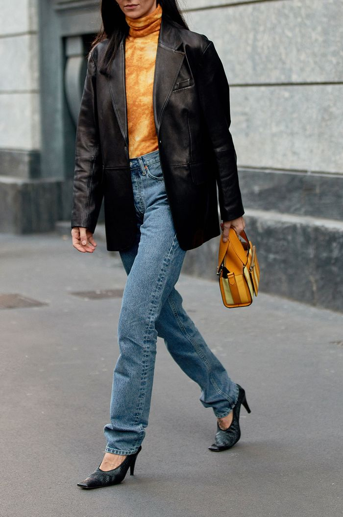How to pull off the straight-leg denim trend