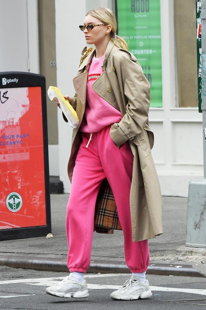 Elsa Hosk sweatsuit outfit