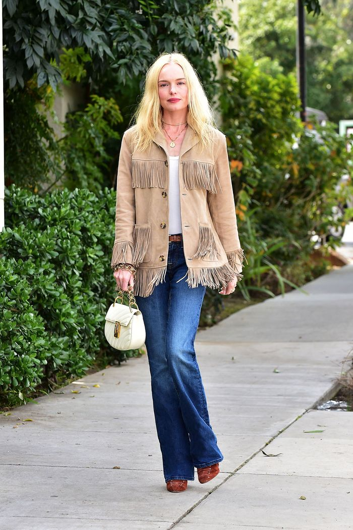 Kate Bosworth wearing flare jeans