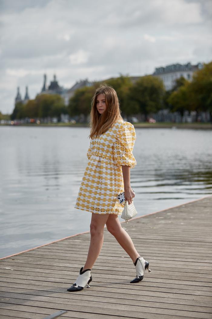 Spring Summer 2020 Copenhagen Fashion Week Street Style Babydoll Dress