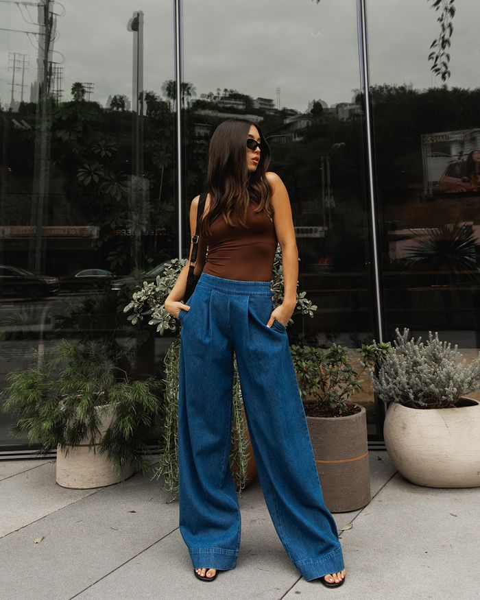 8 Wide-Leg-Pant Outfits to Try Instead of Skinny Jeans | Who What Wear