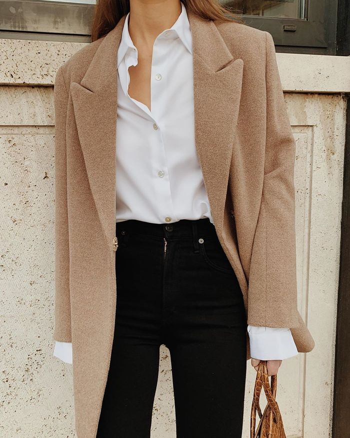 White button down work outfits