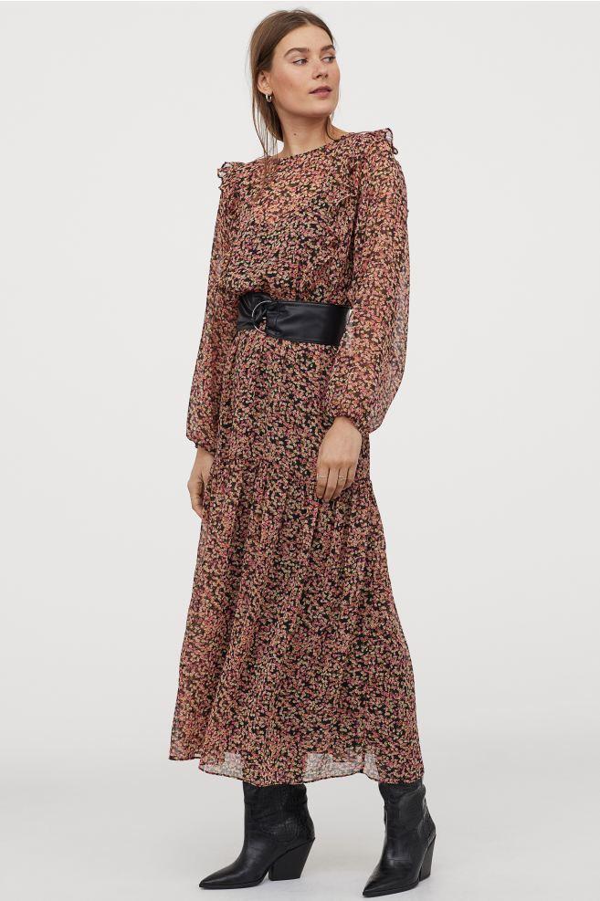 H&M Long Tiered Dress