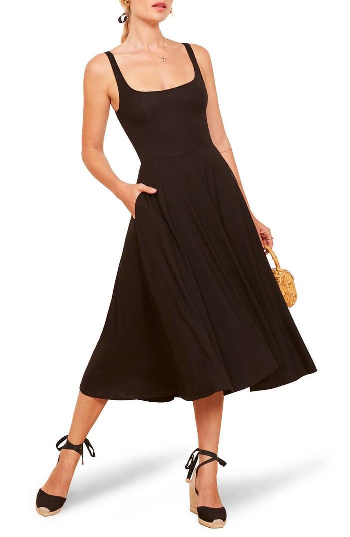 Reformation Rou Midi Fit & Flare Dress