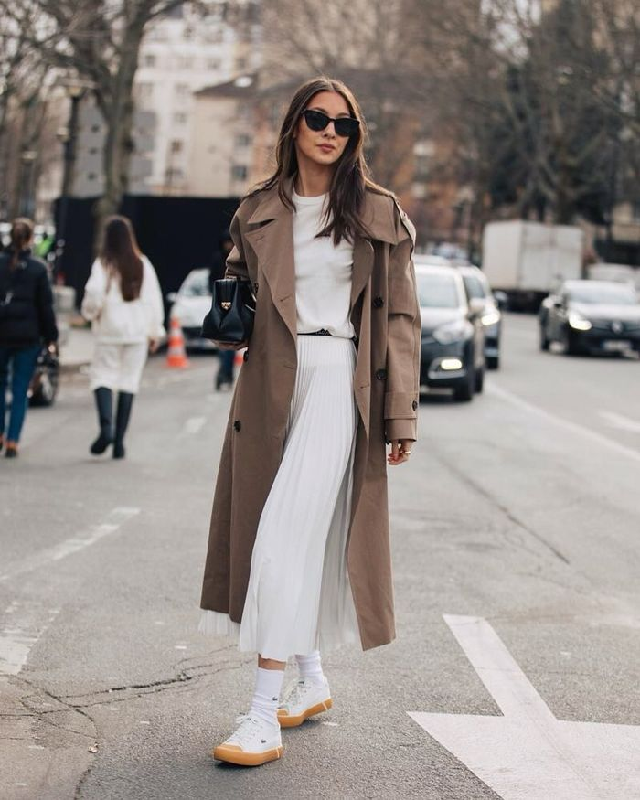 8 Midi-Skirt Outfits That Are Simple But Chic | Who What Wear