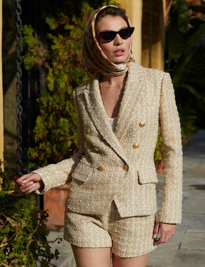 Tweed short suit