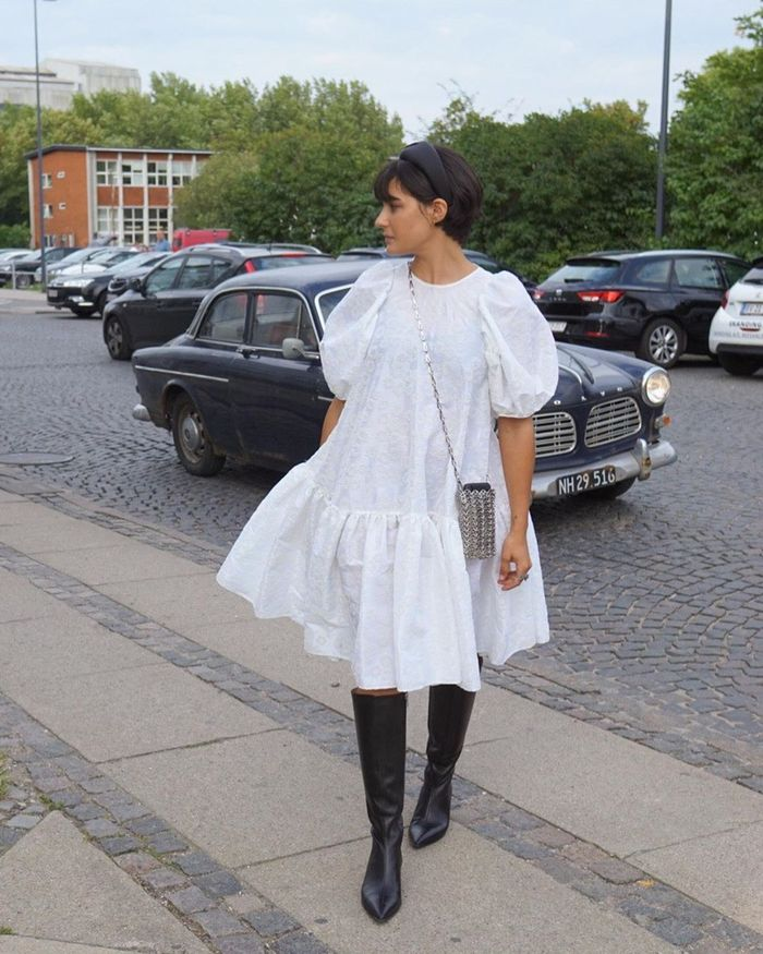 spring dress with boots