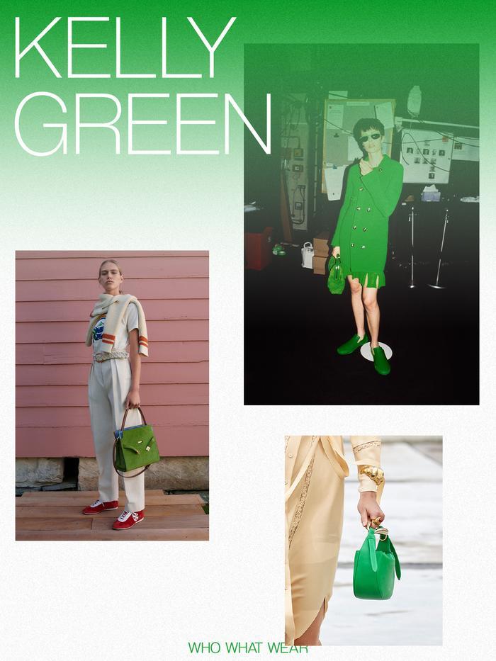 Spring handbag colours: kelly green