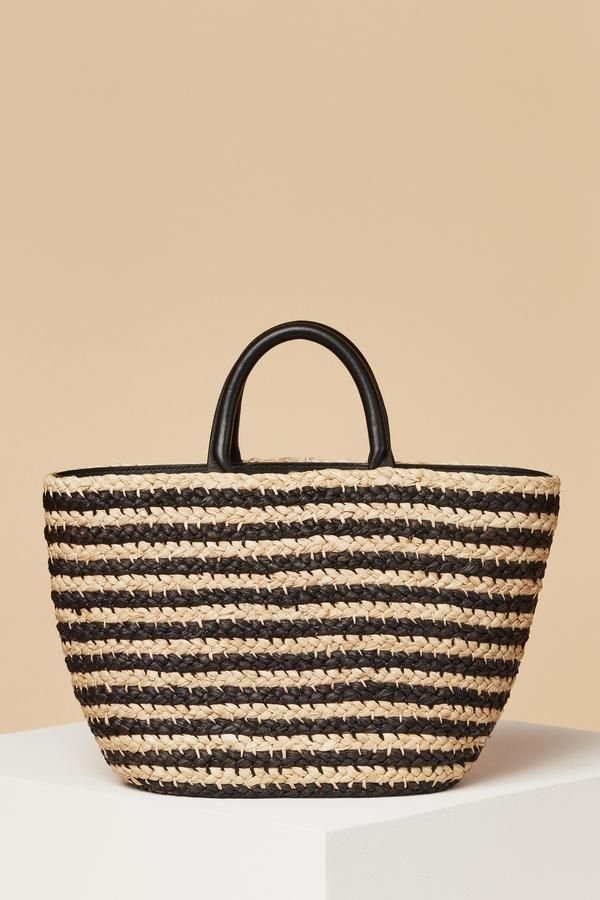 Cesta Top Handle Raffia Tote