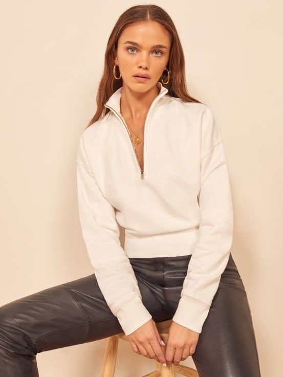 The Reformation Marla Zip Sweatshirt