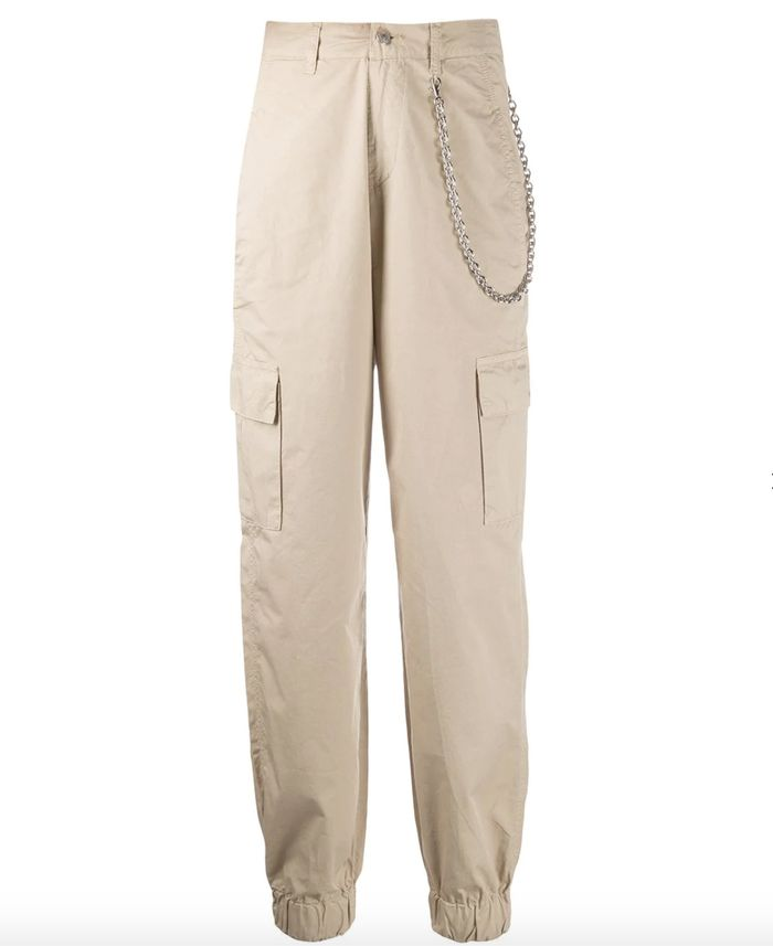 Chiara Ferragni High Waisted Cargo Trousers