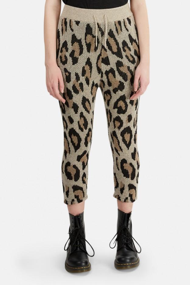 R13 Cashmere Leopard Print