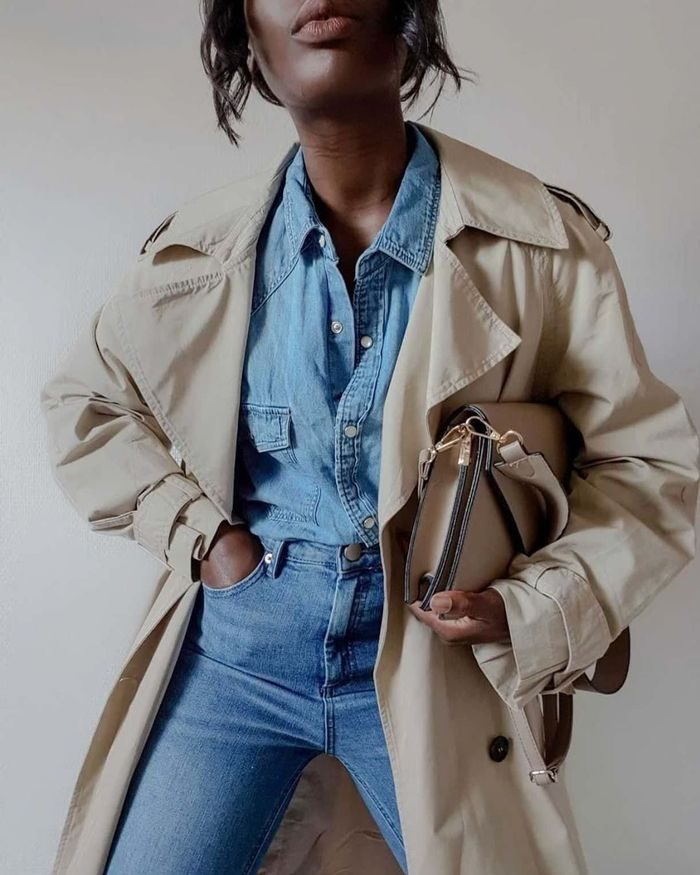 French girl style with denim on denim