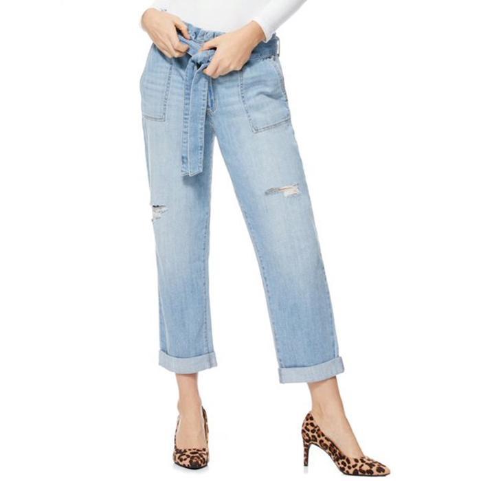 Scoop Paperbag Waist Jeans